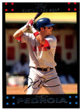 2007 Topps Dustin Pedroia White Letters Boston Red Sox - JM Collectibles