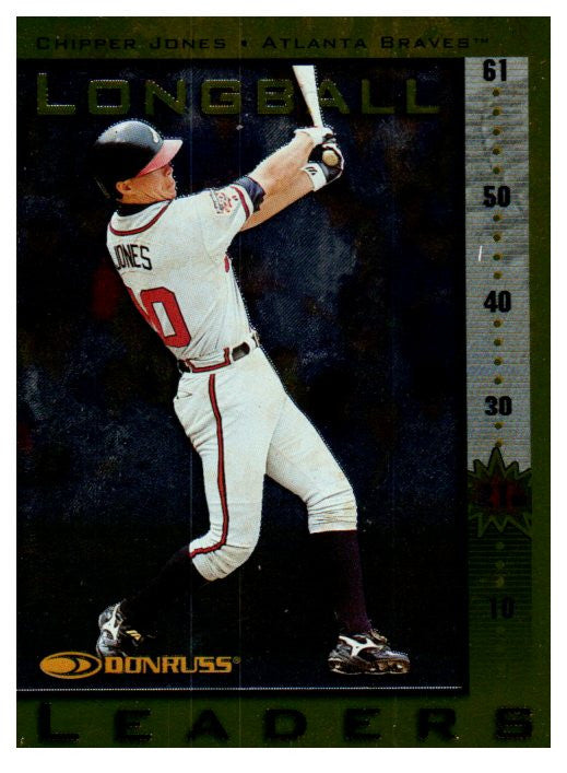 1997 Donruss Chipper Jones Longball Leaders /5000 Atlanta Braves - JM Collectibles