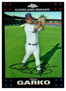 2007 Topps Chrome Ryan Garko Refractor Cleveland Indians - JM Collectibles