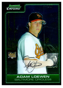 2006 Bowman Chrome Adam Loewen Rookie Card Baltimore Orioles - JM Collectibles