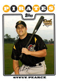 2008 Topps Steve Pearce Rookie Card Pittsburgh Pirates - JM Collectibles
