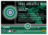 2002 Upper Deck Ichiro Suzuki 2001 Greatest Hits Seattle Mariners - JM Collectibles