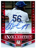 2012 Elite Extra Edition Justin Chigbogu Aspirations Autograph /100 Dodgers - JM Collectibles