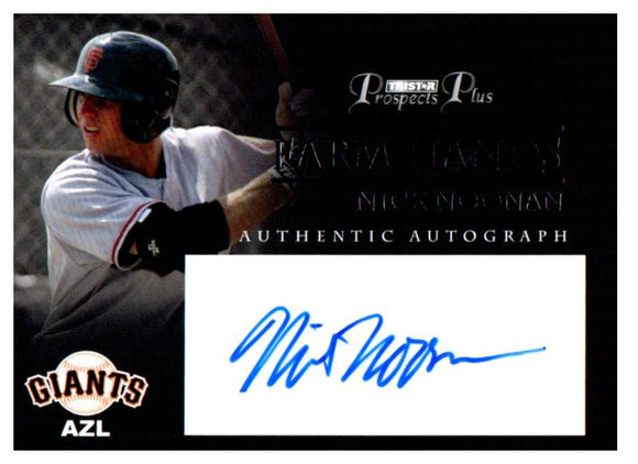 2007 Tristar Prospects Plus Nick Noonan Farm Hands Autograph Card Giants - JM Collectibles