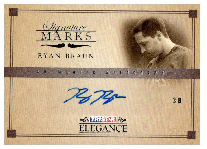 Buy 2007 Tristar Ryan Braun Rookie Autograph Card Milwaukee Brewers At Jm Collectibles For Only 1999