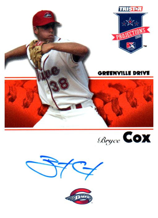 2008 Tristar Projections Bryce Cox Autograph Card Boston Red Sox - JM Collectibles