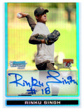 2009 Bowman Chrome Rinku Singh Refractor Autograph Card /500 Pirates - JM Collectibles