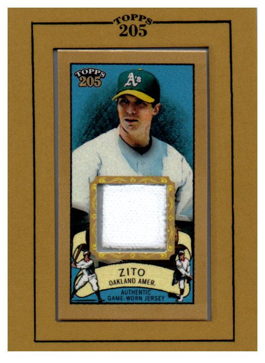 2003 Topps 205 Barry Zito Game Worn Jersey Card Oakland Athletics - JM Collectibles