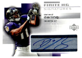 2004 Upper Deck Finite HG Devard Darling Autograph Card Baltimore Ravens - JM Collectibles