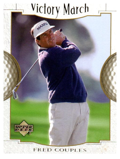 2001 Upper Deck Fred Couples Victory March Golf Card - JM Collectibles