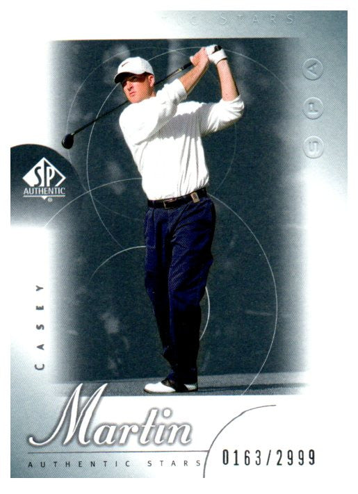 2001 SP Authentic Casey Martin Rookie Golf Card /2999 - JM Collectibles