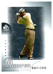 2001 SP Authentic Robert Damron Rookie Golf Card /2999 - JM Collectibles