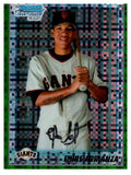 2010 Bowman Chrome Ehire Adrianza Green Refractor Rookie Card Giants - JM Collectibles