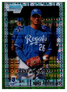 2010 Bowman Chrome Noel Arguelles Green Refractor Rookie Card Kansas City Royals - JM Collectibles
