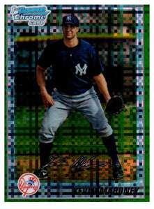 2010 Bowman Chrome Kevin Mahoney Green Refractor Rookie Card New York Yankees - JM Collectibles