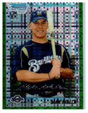 2010 Bowman Chrome Max Walla Green Refractor Rookie Card Milwaukee Brewers - JM Collectibles