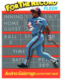 1989 Fleer Andres Galarraga For The Record Montreal Expos - JM Collectibles