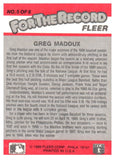1989 Fleer Greg Maddux For The Record Chicago Cubs - JM Collectibles