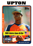 2005 Topps Update B.J. Upton Rookie Card Tampa Bay Rays - JM Collectibles