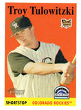 2007 Topps Heritage Troy Tulowitzki Rookie Card Colorado Rockies - JM Collectibles