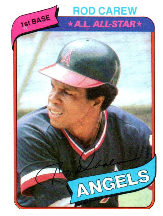 1980 Topps Rod Carew California Angels - JM Collectibles