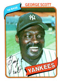 1980 Topps George Scott New York Yankees - JM Collectibles