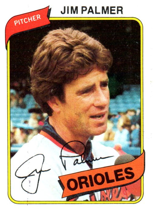 1980 Topps Jim Palmer Baltimore Orioles - JM Collectibles