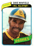1980 Topps Dave Winfield San Diego Padres - JM Collectibles