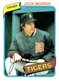 1980 Topps Jack Morris Detroit Tigers - JM Collectibles