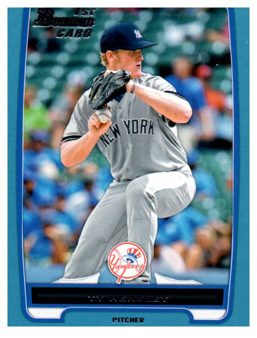 2013 Bowman Blue Border Ty Hensley Rookie /500 New York Yankees - JM Collectibles
