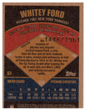 2002 Topps Whitey Ford Super Team Retrofractor /1961 New York Yankees - JM Collectibles