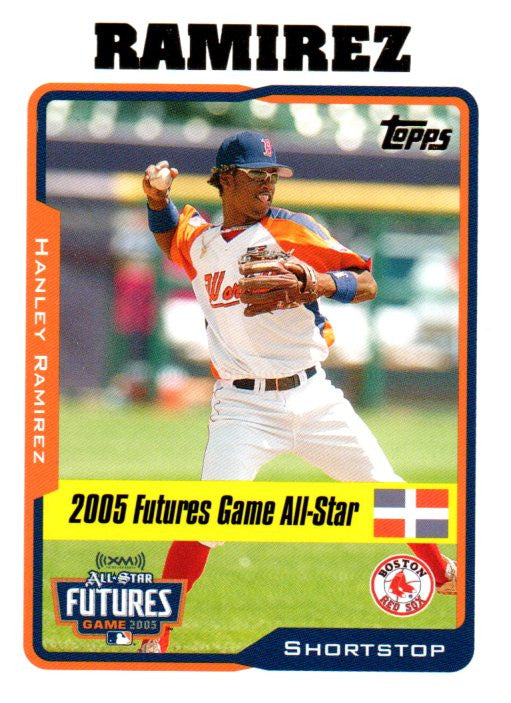 2005 Topps Update Hanley Ramirez Rookie Card Boston Red Sox - JM Collectibles