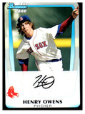 2011 Bowman Draft Pick Henry Owens Boston Red Sox - JM Collectibles