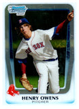 2011 Bowman Chome Draft Pick Henry Owens Boston Red Sox - JM Collectibles