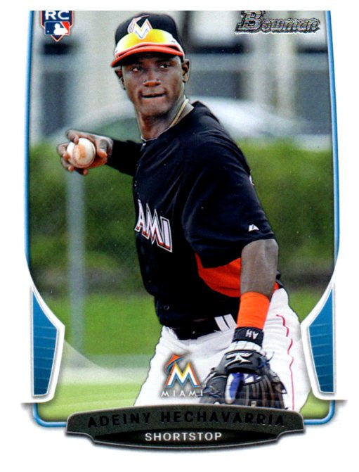 2013 Bowman Adeiny Hechavarria Rookie Card Miami Marlins - JM Collectibles