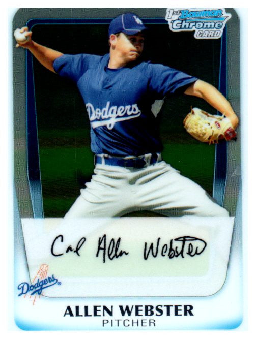 2011 Bowman Chrome Allen Webster Rookie Card Los Angeles Dodgers - JM Collectibles