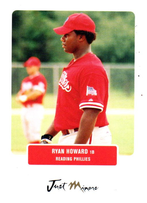 2004 Just Minors Ryan Howard Rookie Card Philadelphia Phillies - JM Collectibles