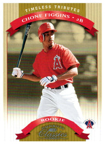 2002 Donruss Classics Chone Figgins Rookie Timeless Tributes /100 Anaheim Angels - JM Collectibles