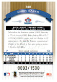 2002 Donruss Classics Chris Baker Rookie /1500 Toronto Blue Jays - JM Collectibles