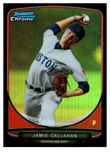 2013 Bowman Chrome Prospect Jamie Callahan Black Refractor /99 Boston Red Sox - JM Collectibles