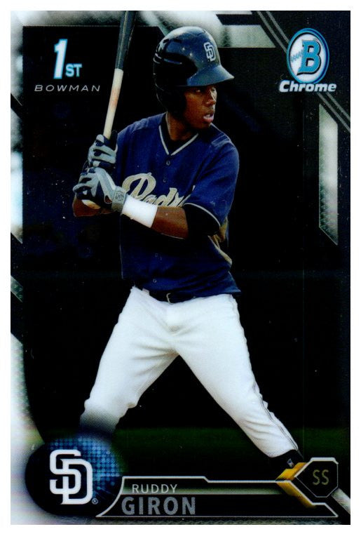 2016 Bowman Chrome Prospect Ruddy Giron San Diego Padres - JM Collectibles