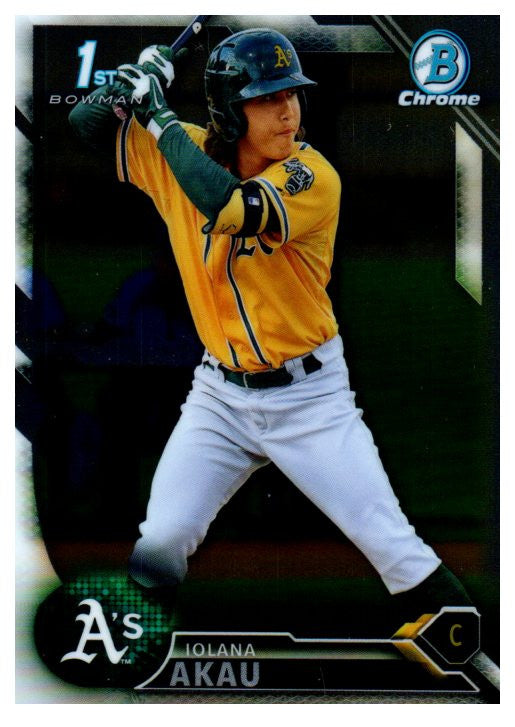 2016 Bowman Chrome Prospect Iolana Akau Oakland Athletics - JM Collectibles