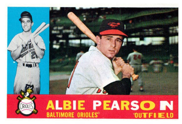1960 Topps Albie Pearson Set Break Baltimore Orioles - JM Collectibles