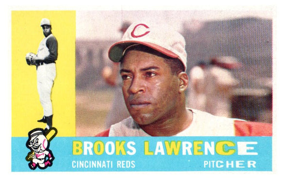 1960 Topps Brooks Lawrence Set Break Cincinnati Reds - JM Collectibles