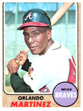 1968 Topps Orlando Martinez Set Break Atlanta Braves - JM Collectibles