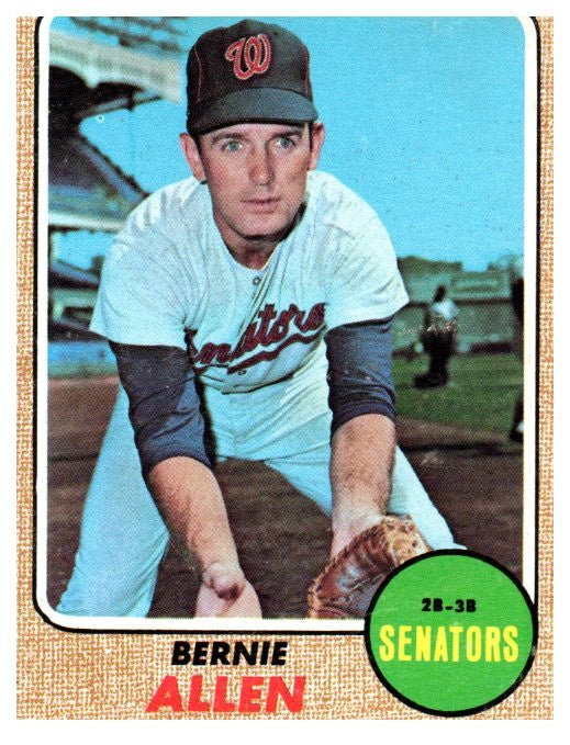 1968 Topps Bernie Allen Set Break Washington Senators - JM Collectibles
