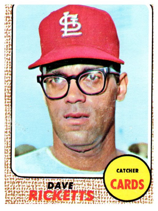 1968 Topps Dave Ricketts Set Break St Louis Cardinals - JM Collectibles
