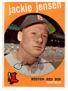1959 Topps Jackie Jensen Boston Red Sox - JM Collectibles