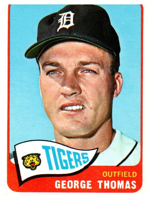 1965 Topps George Thomas Set Break Detroit Tigers - JM Collectibles