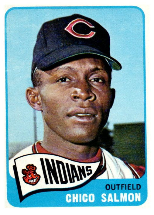 1965 Topps Chico Salmon Set Break Cleveland Indians - JM Collectibles